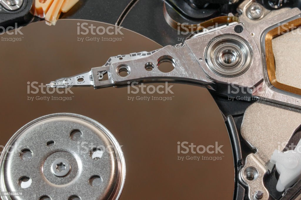 magnetic head of HDD royalty-free stock photo