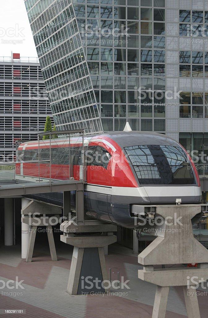 Magnetic levitation train royalty-free stock photo