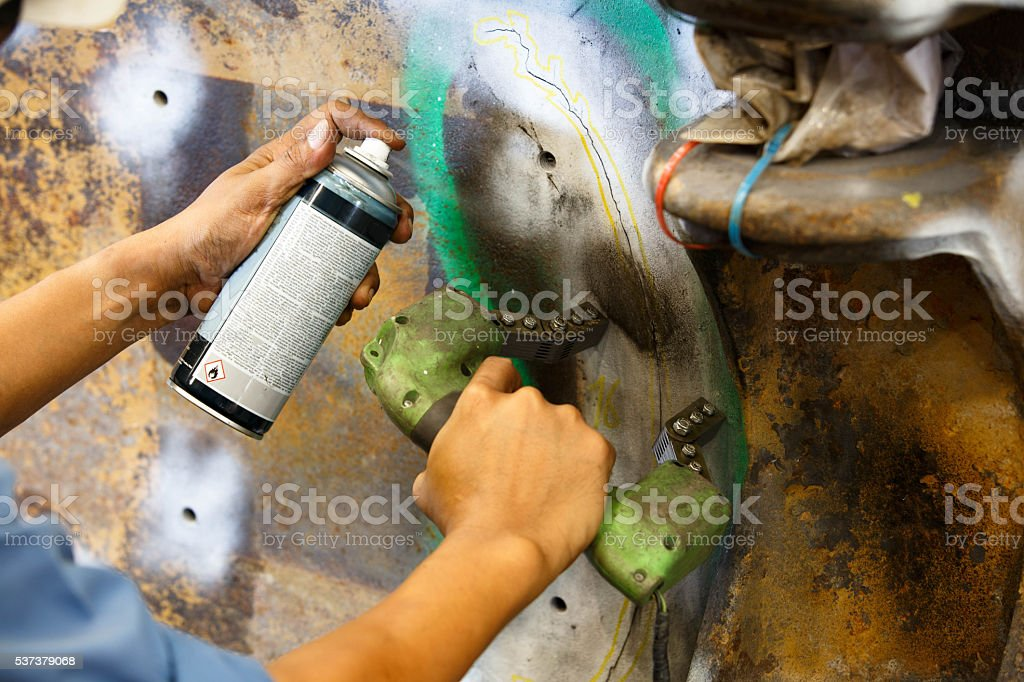 Magnetic Particle Inspection Stock Photo & More Pictures of