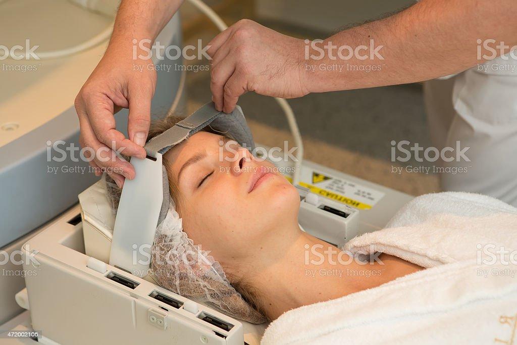 Magnetic resonance imaging stock photo