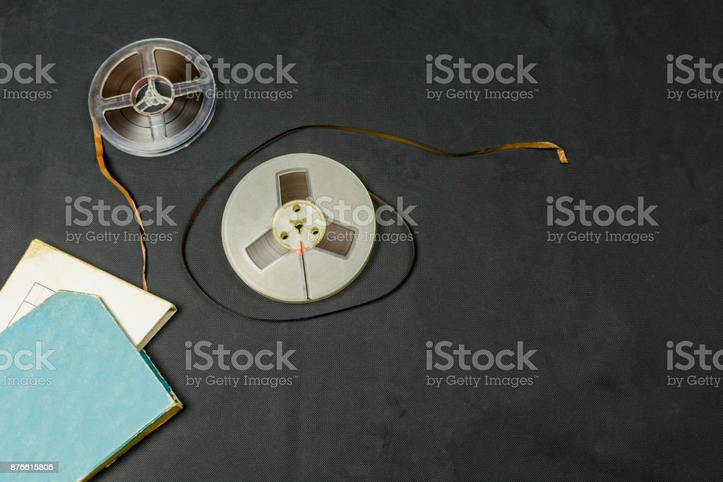Magnetic tape for tape reel. stock photo