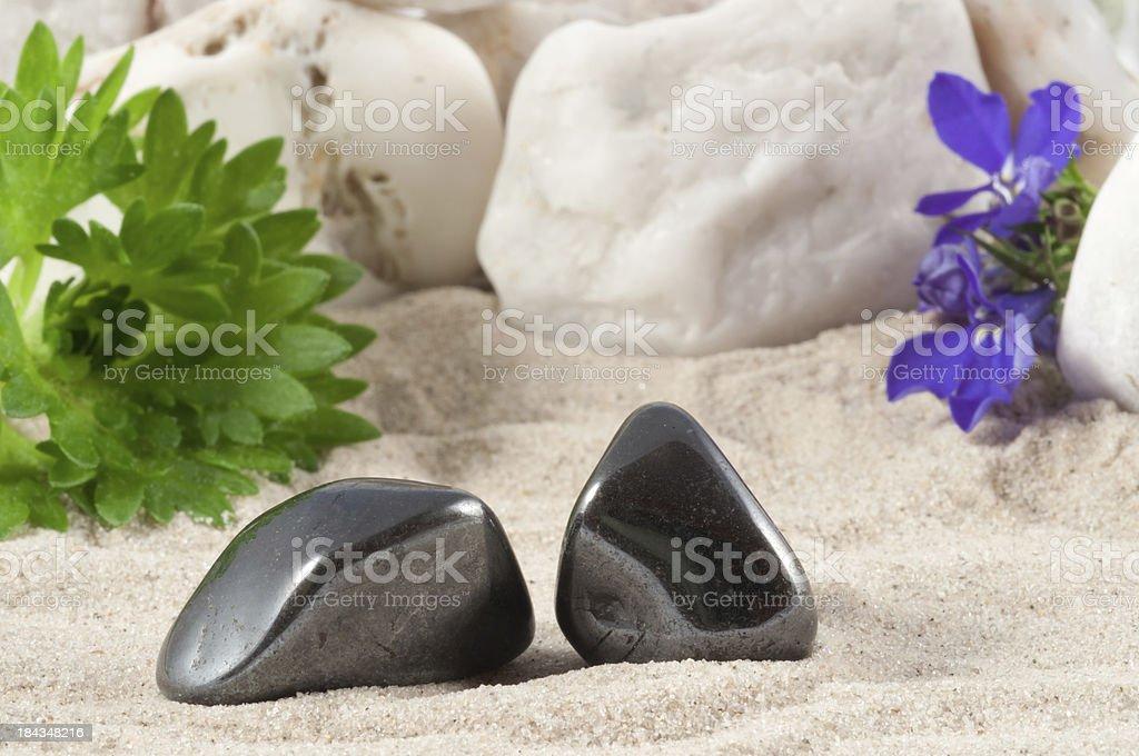 Magnetite - half precious stone. guaranteed authentic stock photo