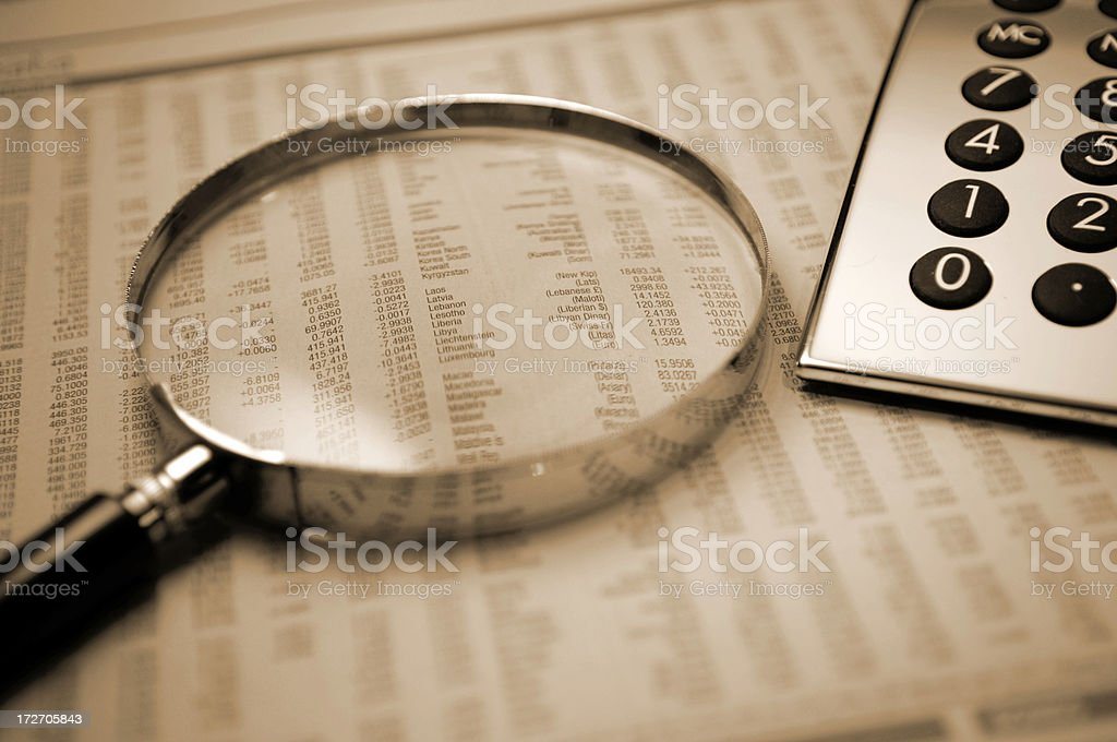 A magnification of mathematics royalty-free stock photo