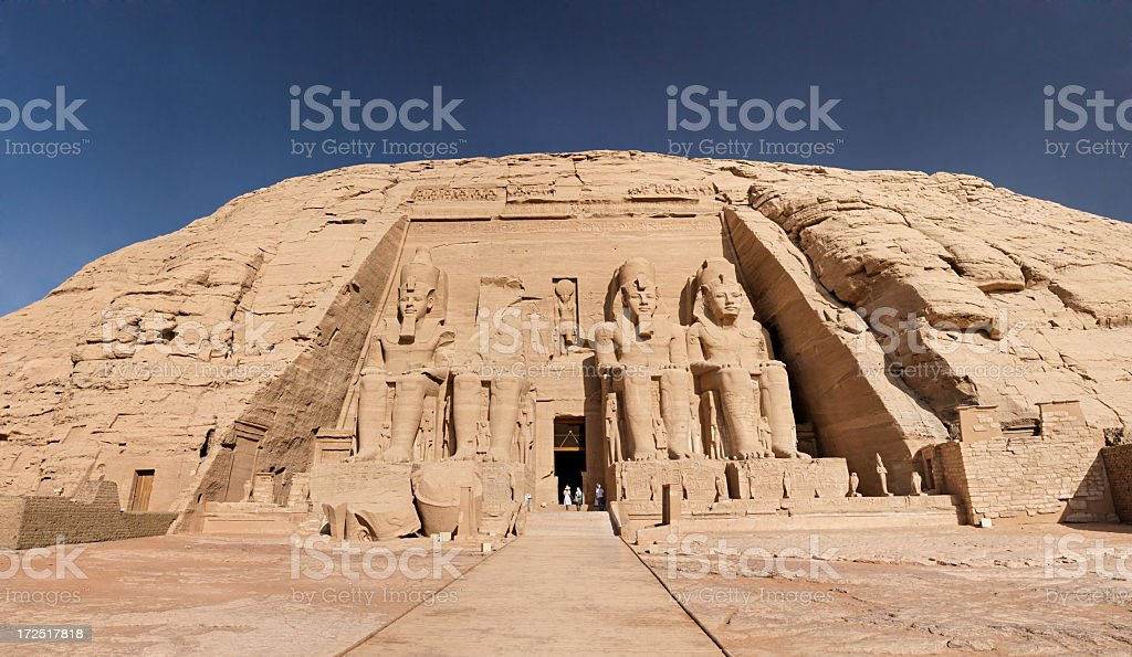Magnificent ancient Abu Simbel temples in Egypt stock photo
