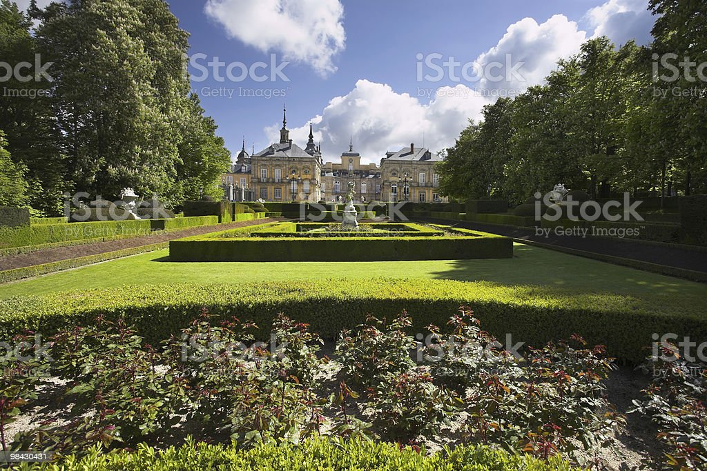 Magnificent ancient park in style of the French classicism royalty-free stock photo