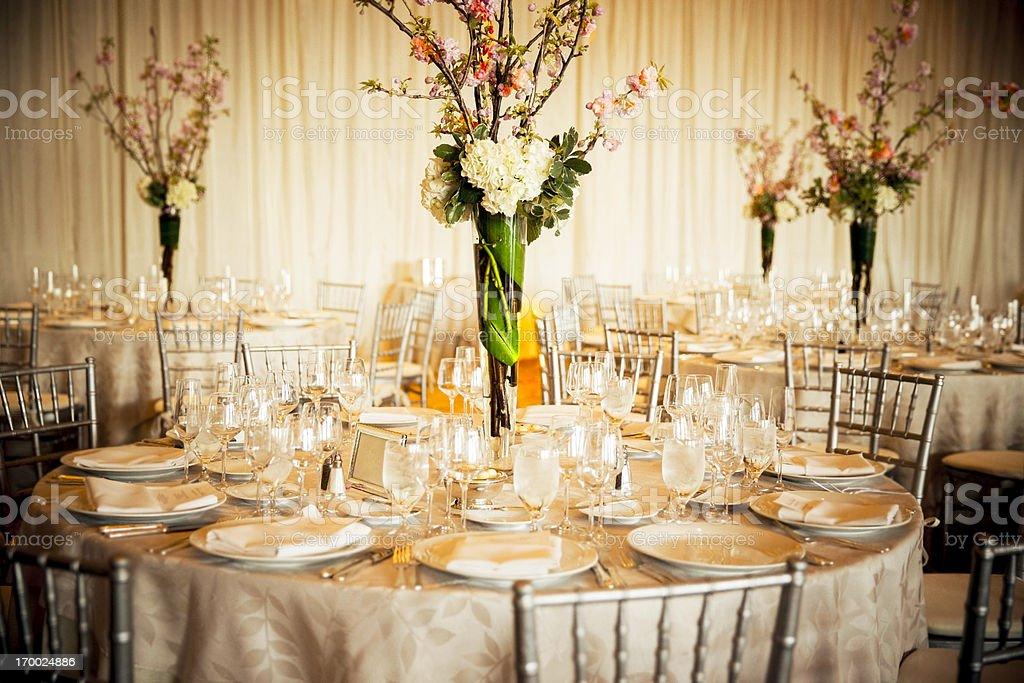 Magnificent Banquet Room stock photo