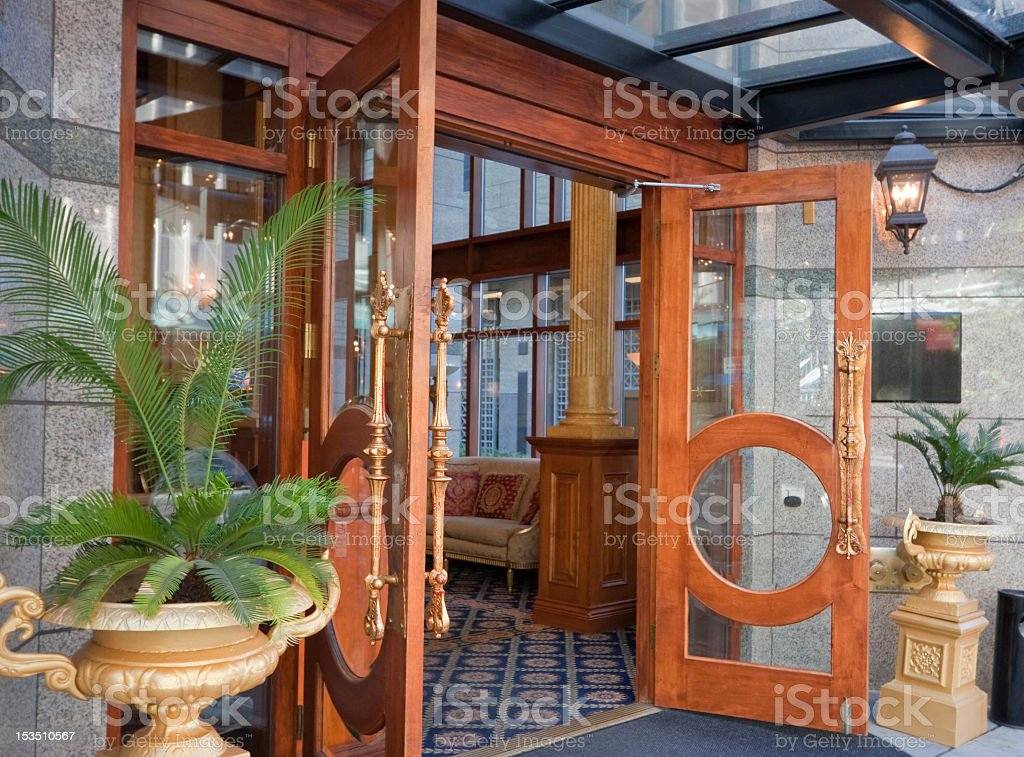 Magnificent Entrance with open Doors royalty-free stock photo