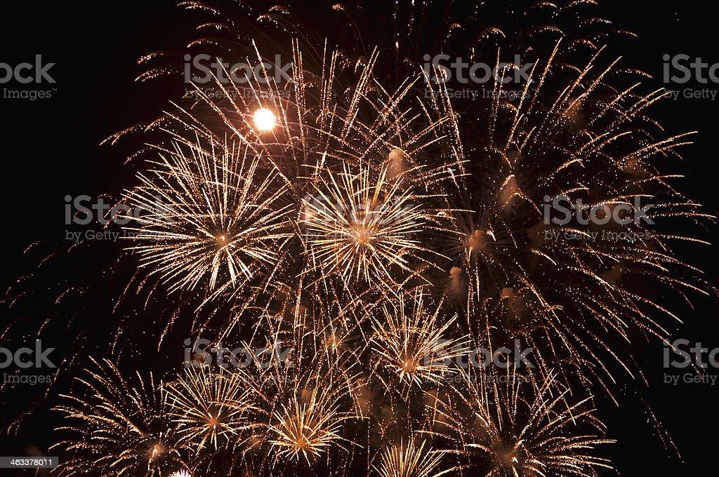 Magnificent firework display stock photo