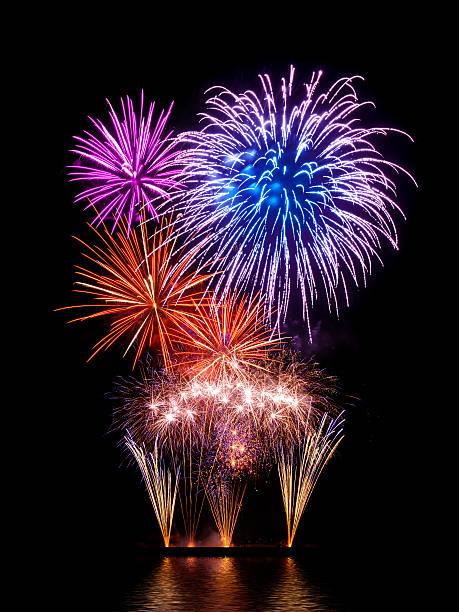 Magnificent fireworks display stock photo