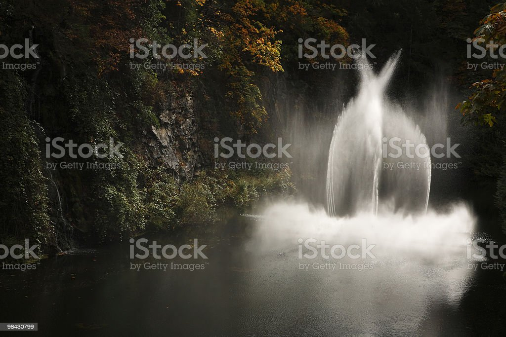 Magnificent fountain in  Butchard-garden royalty-free stock photo
