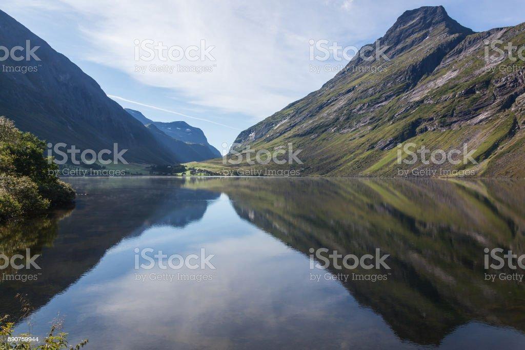 A magnificent Geiranger fjord landscape stock photo