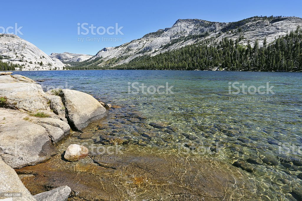 Magnificent huge lake on pass Tioga royalty-free stock photo