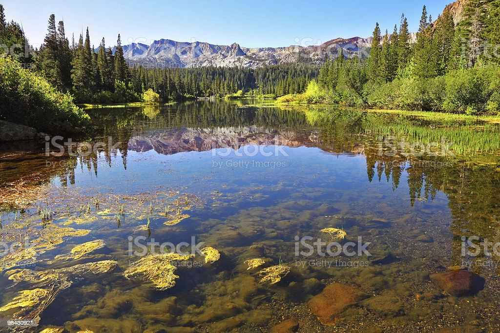 Magnificent lake in California royalty-free stock photo