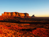 Magnificent landscape view of Monument Valley at sunrise