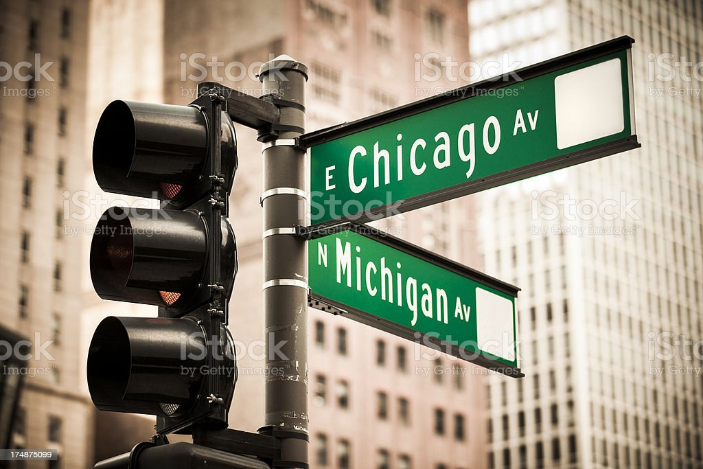 Magnificent Mile Chicago royalty-free stock photo