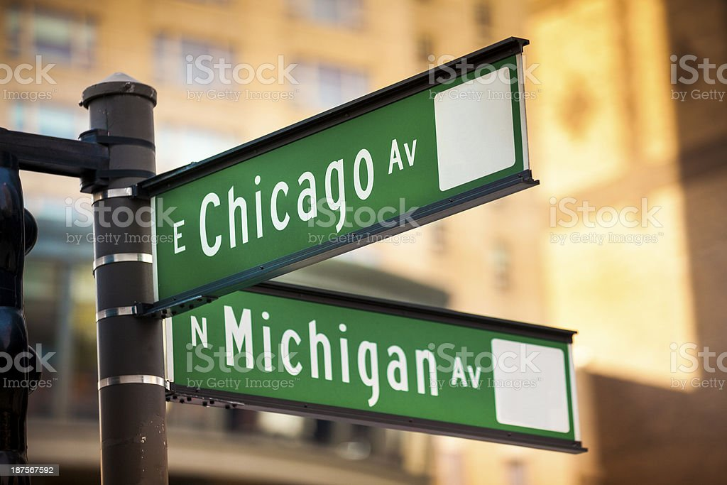 Magnificent Mile Chicago stock photo