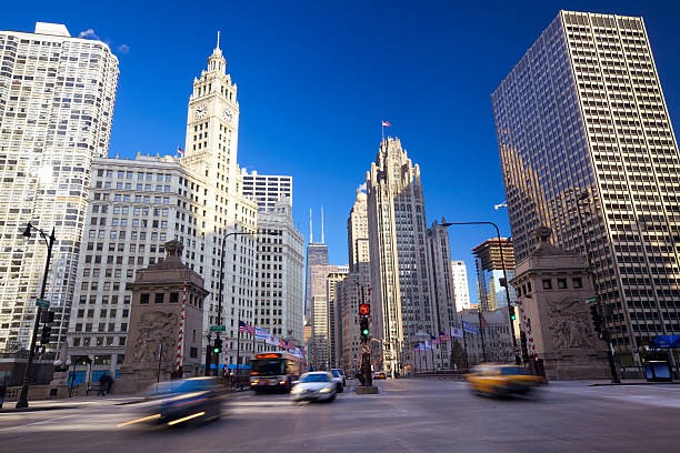 Magnificent Mile in Chicago stock photo