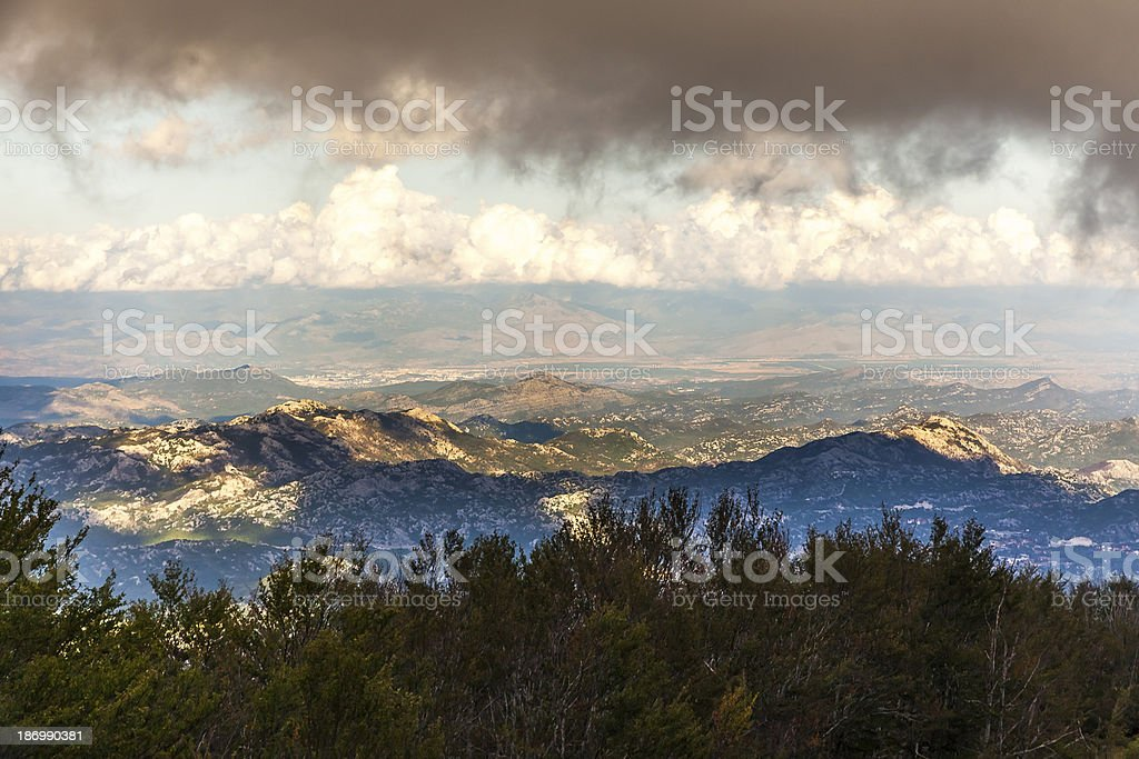 Magnificent Montenegro mountains royalty-free stock photo