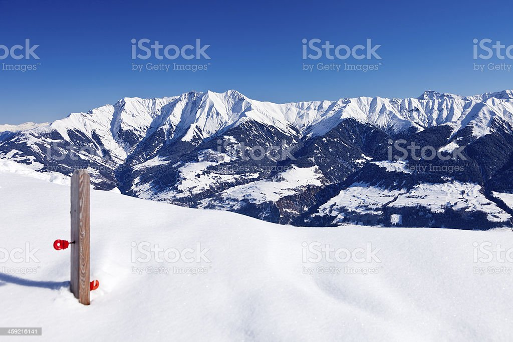 Magnificent Mountain Panorama in Winter stock photo