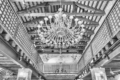 istock Magnificent murano glass chandelier, Murano, Venice, Italy 1029939570