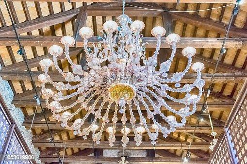 istock Magnificent murano glass chandelier, Murano, Venice, Italy 1053619986