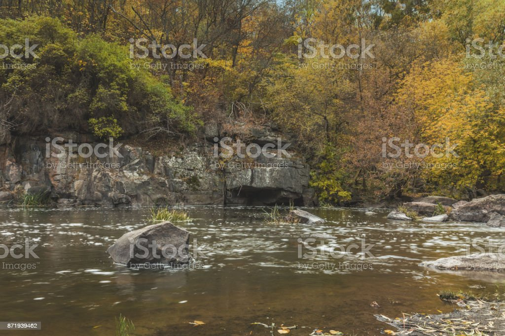 Magnificent river canyon in the fall royalty-free stock photo