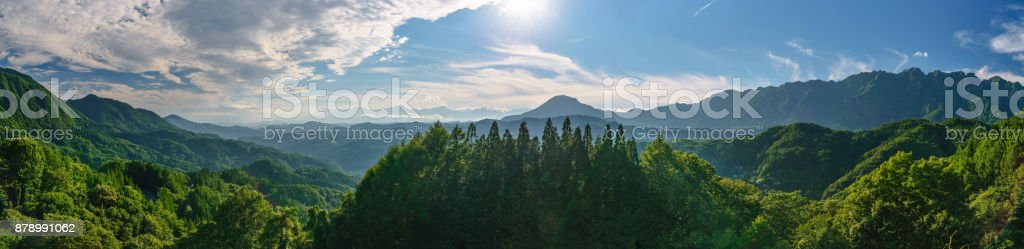 Magnificent scenery of the Northern Alps stock photo