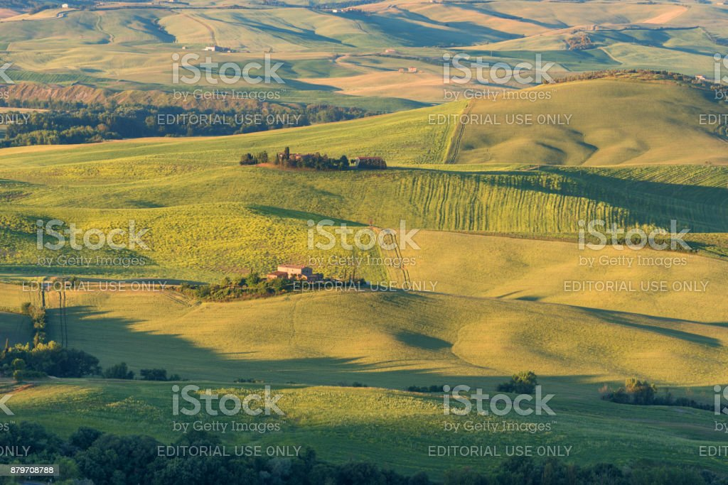Magnificent spring rural landscape. stock photo
