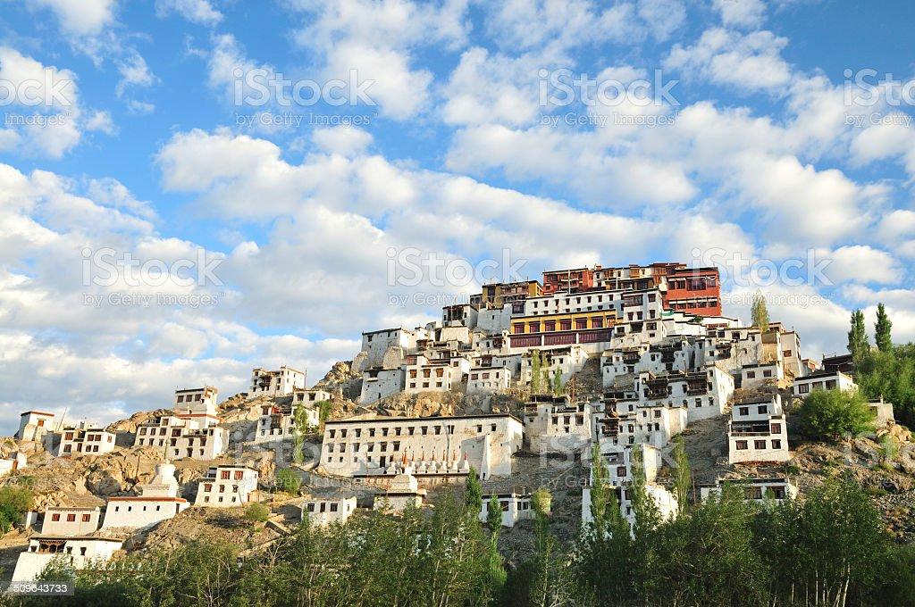 Magnificent Thiksey Monastery near Leh, Ladakh, India stock photo