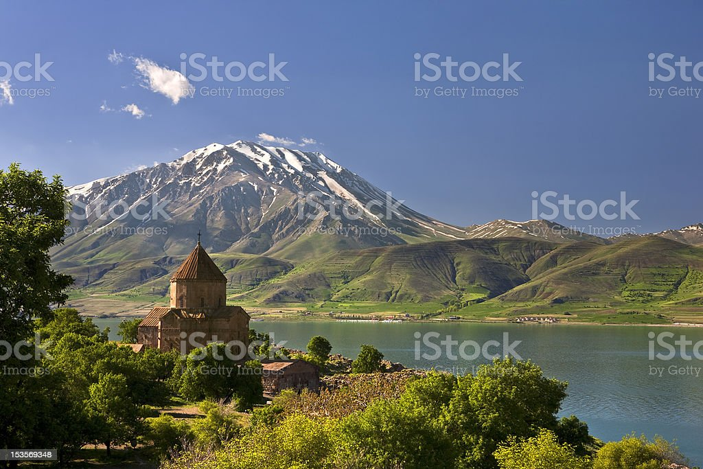 A magnificent view of Akdamar Island stock photo