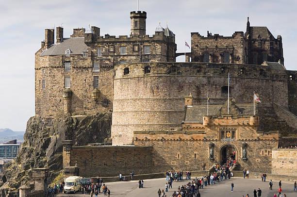 Magnificent view of Edinburgh Castle stock photo