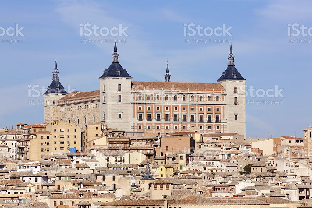Magnificent view of Toledo in Spain stock photo