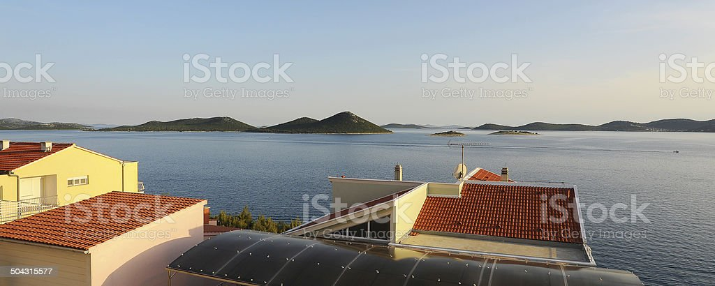 Magnificent views to the coast stock photo