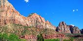 Magnificient range of canyons at Zion National Park, Utah.