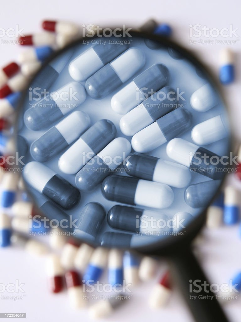 Magnified capsules royalty-free stock photo