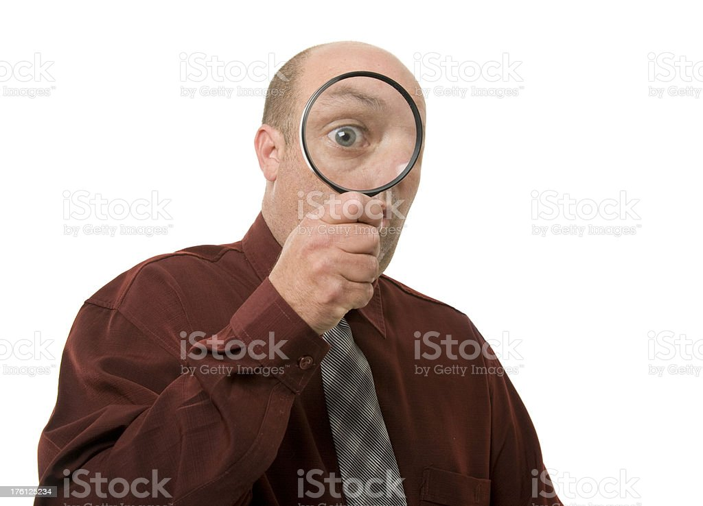 Magnified Eye royalty-free stock photo