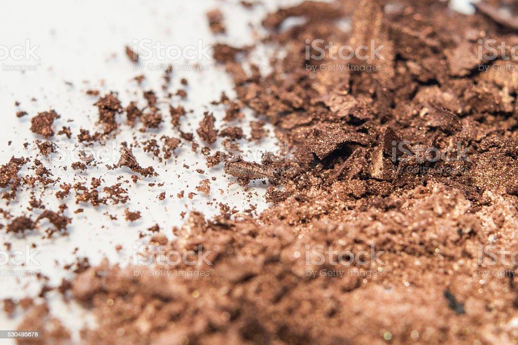 magnified neutral shades makeup powder royalty-free stock photo