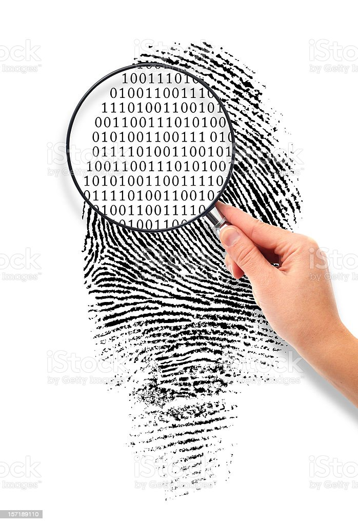 Magnified to Binary Code royalty-free stock photo