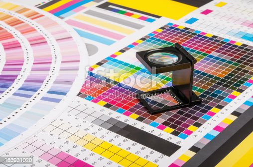 istock Magnifier and test print 183931020