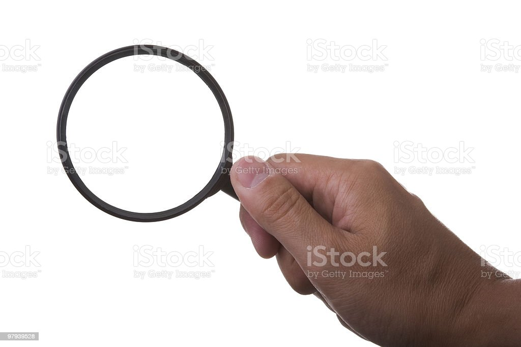 magnifier glass royalty-free stock photo