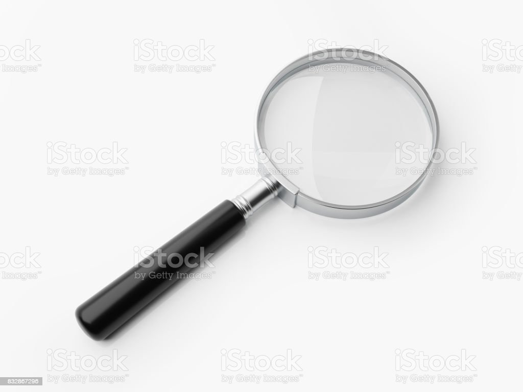 Magnifier Isolated On White Background stock photo