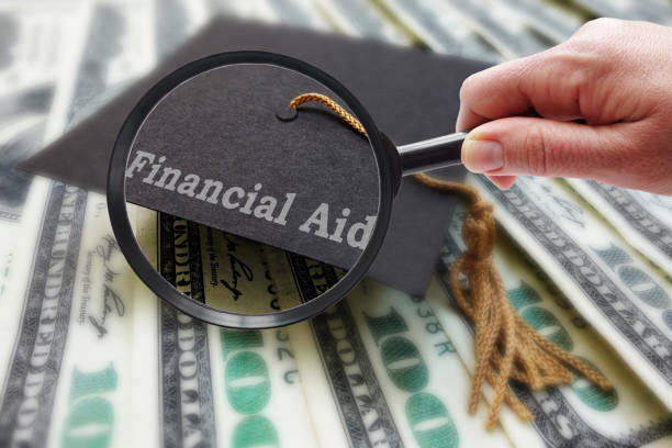 Magnify Financial Aid stock photo