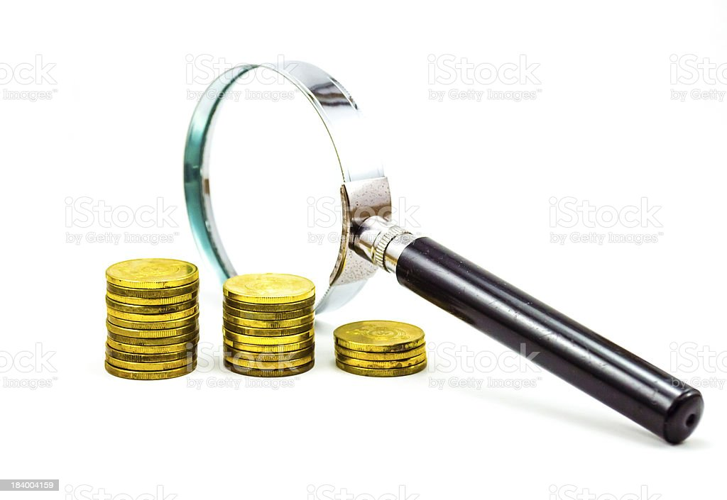 magnify income 2 royalty-free stock photo