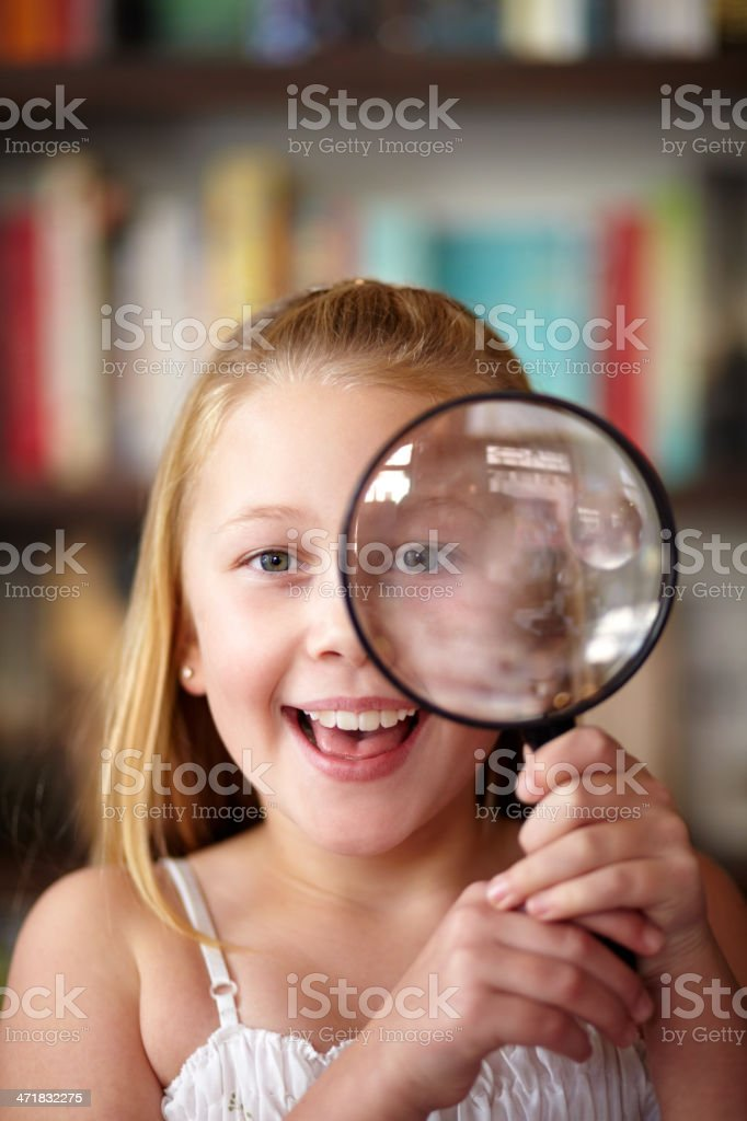 Magnify it! royalty-free stock photo