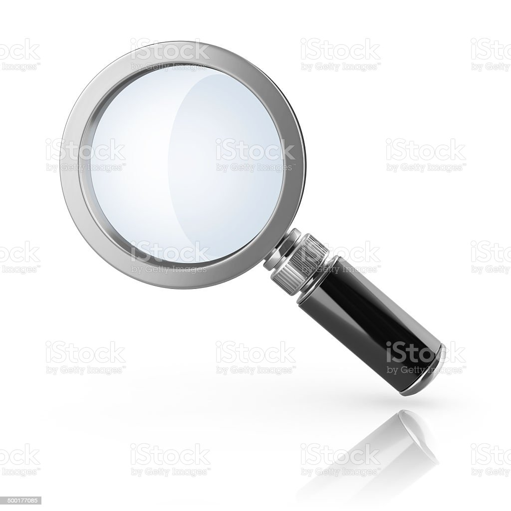 magnifier loupe 3d icon stock photo