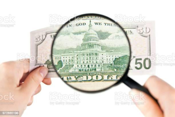 Magnifying a fifty dollars banknote picture id972885196?b=1&k=6&m=972885196&s=612x612&h=cjyhlwtgz tjc4 uq5balmlacizgse6cnwcukvfb70a=