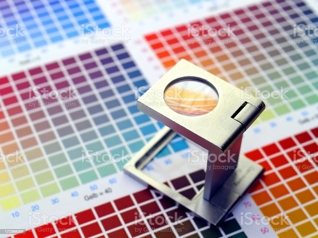 magnifying colors royalty-free stock photo