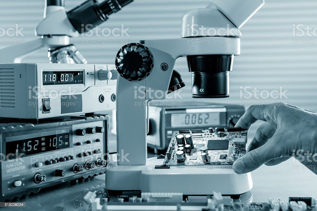 Magnifying devices to work stock photo