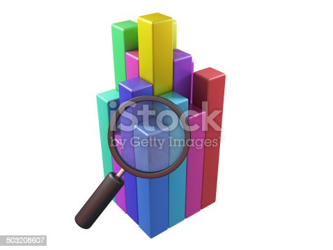 511722788istockphoto Magnifying glass and chart 503208607
