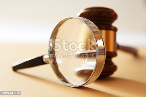 istock Magnifying Glass And Gavel 1324141188